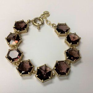 TALBOTS Statement Bracelet Gold Tone  Crystal